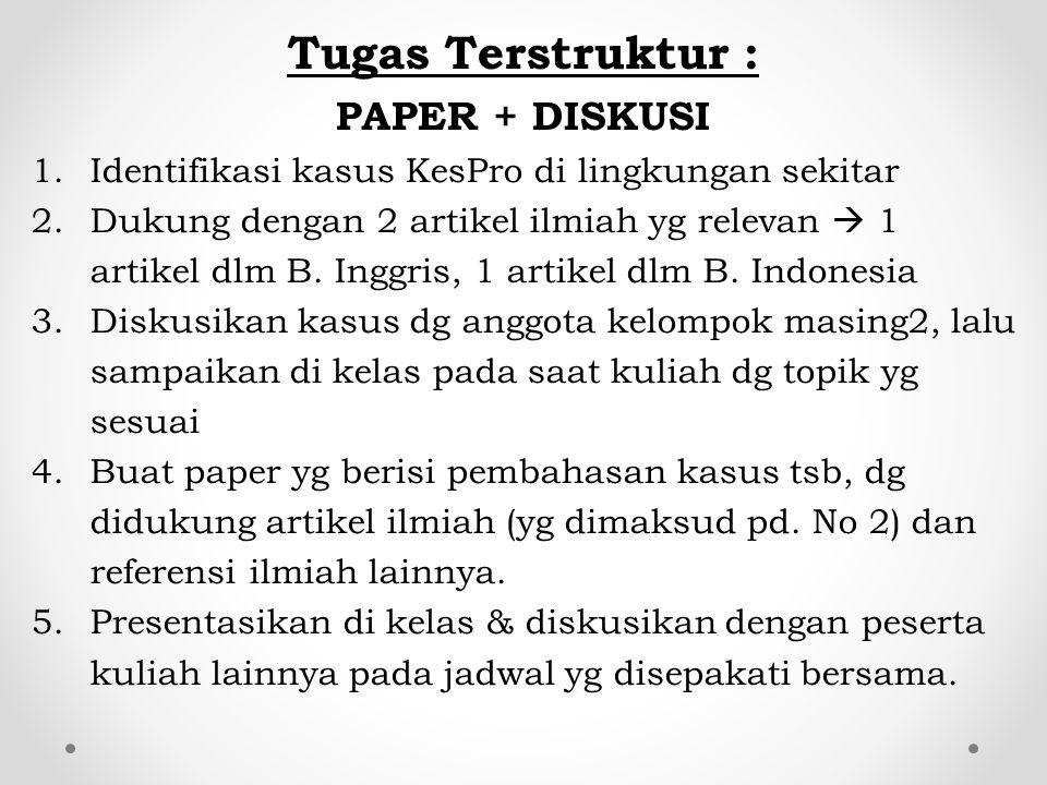 Tugas Terstruktur : PAPER + DISKUSI