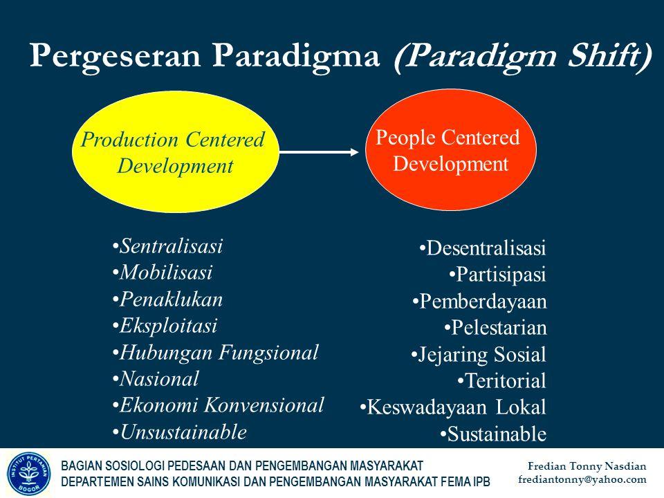 Pergeseran Paradigma (Paradigm Shift)