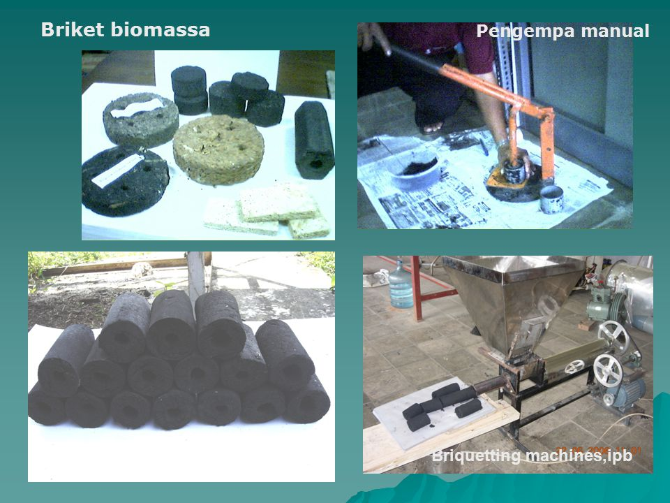 Briket biomassa Pengempa manual Briquetting machines,ipb