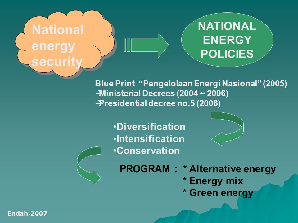 National energy security