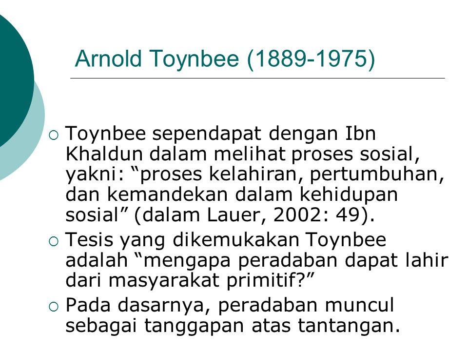 Arnold Toynbee (1889-1975)