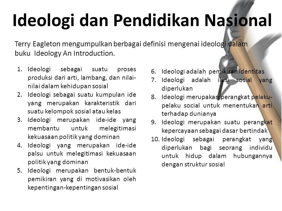 Ideologi dan Pendidikan Nasional