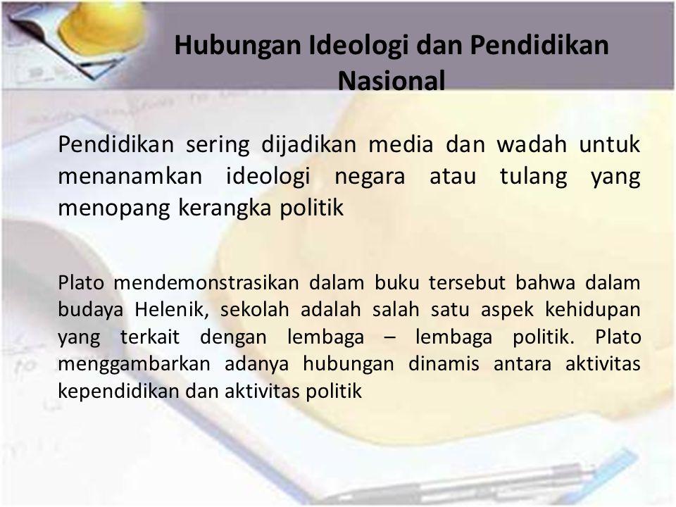 Hubungan Ideologi dan Pendidikan Nasional