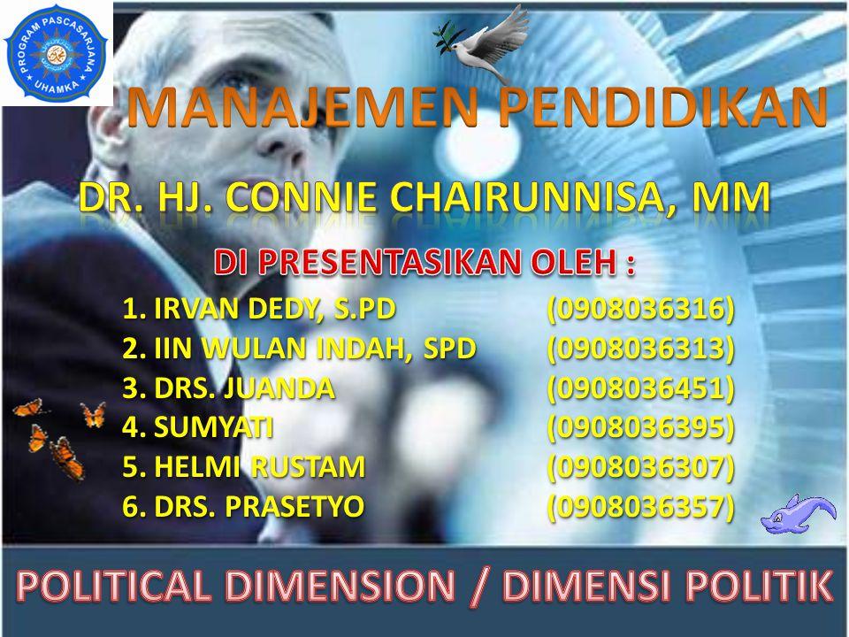 MANAJEMEN PENDIDIKAN Dr. HJ. CONNIE CHAIRUNNISA, MM