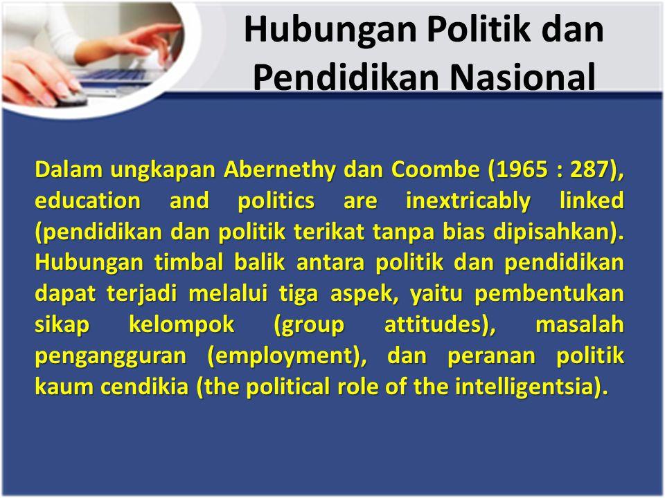 Hubungan Politik dan Pendidikan Nasional