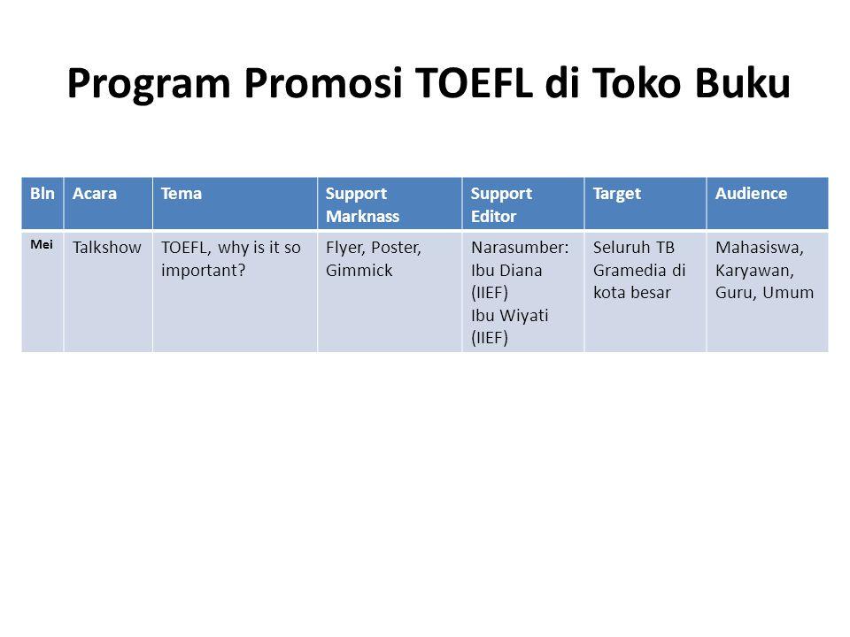 Program Promosi TOEFL di Toko Buku