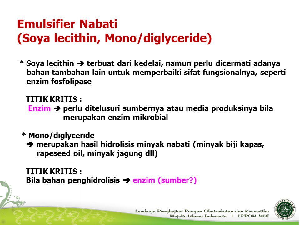 (Soya lecithin, Mono/diglyceride)