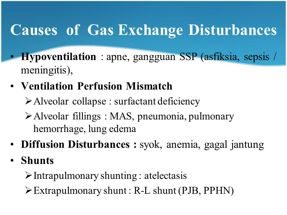 Causes of Gas Exchange Disturbances