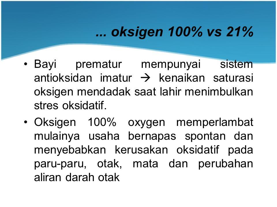 ... oksigen 100% vs 21%