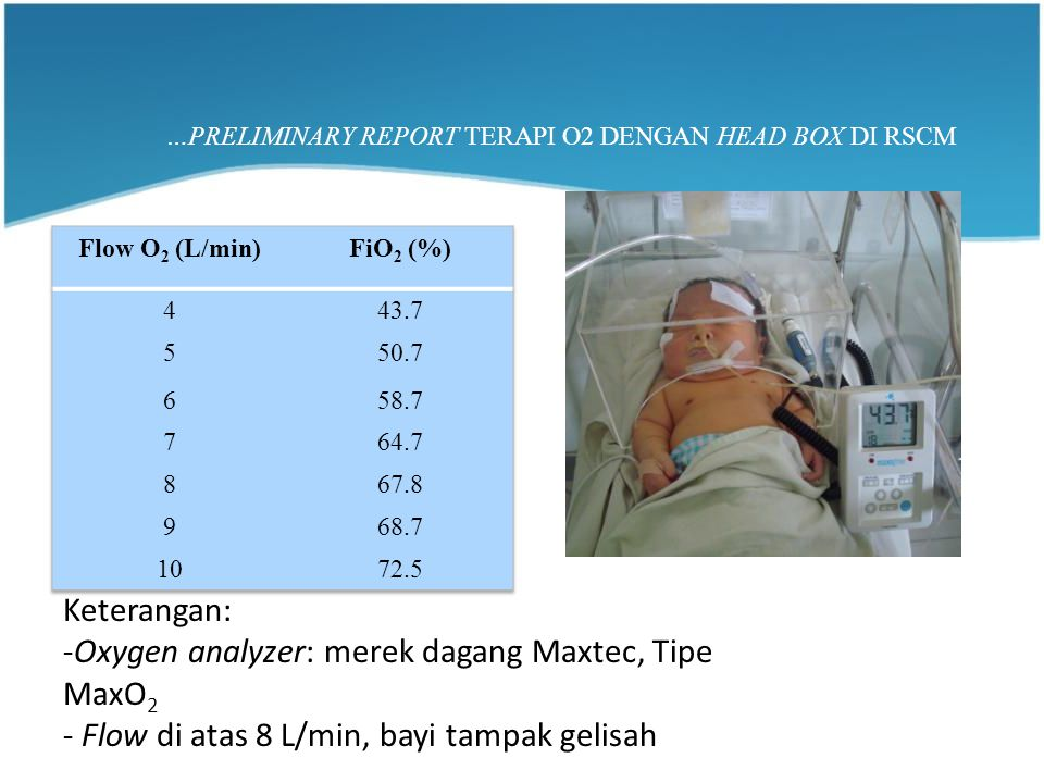 …PRELIMINARY REPORT TERAPI O2 DENGAN HEAD BOX DI RSCM