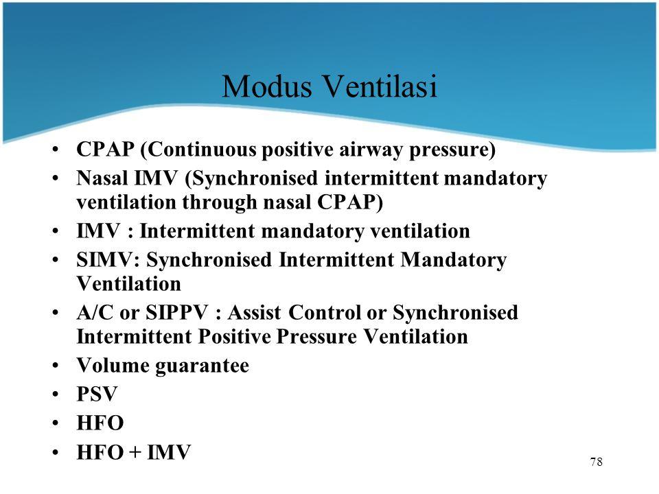 Modus Ventilasi CPAP (Continuous positive airway pressure)