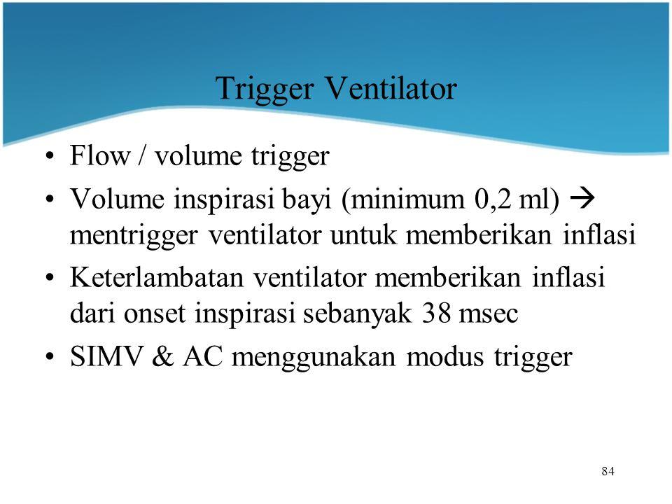Trigger Ventilator Flow / volume trigger