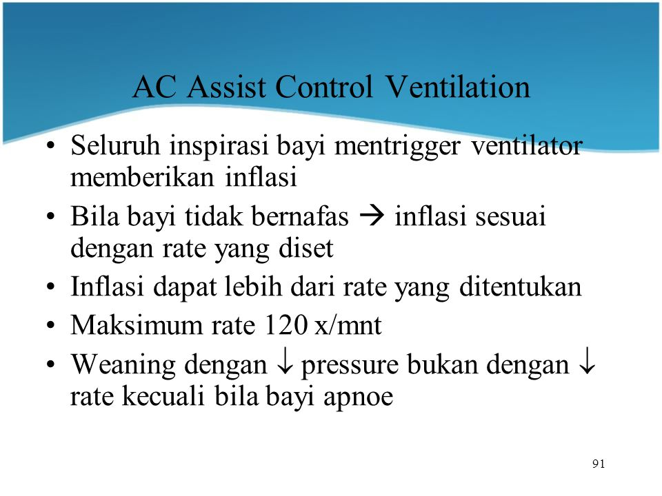 AC Assist Control Ventilation