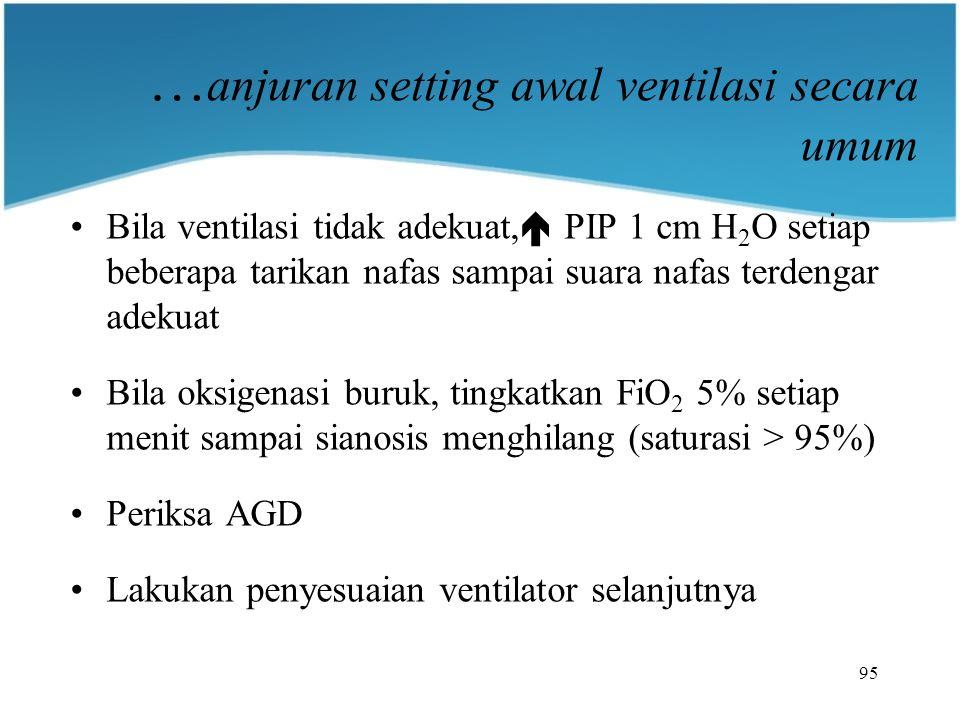 …anjuran setting awal ventilasi secara umum