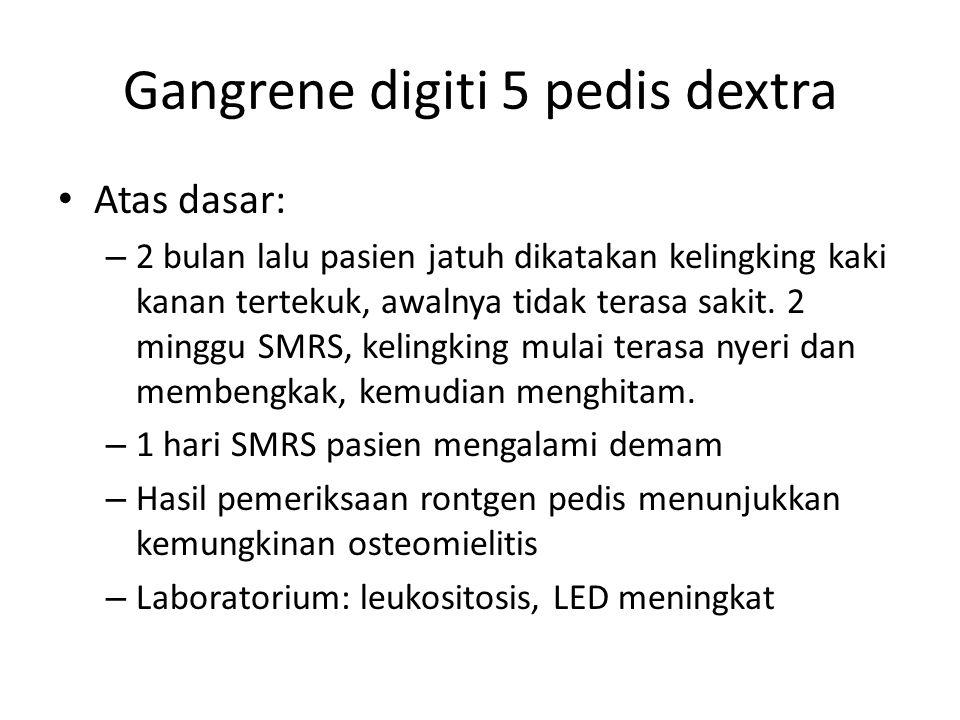 Gangrene digiti 5 pedis dextra
