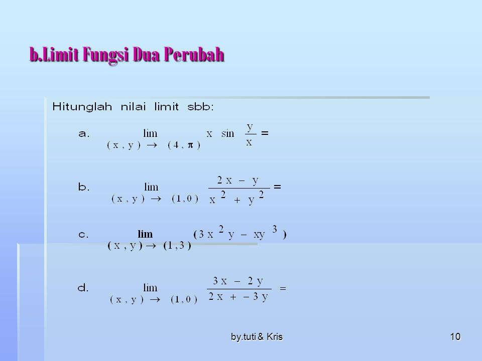 b.Limit Fungsi Dua Perubah