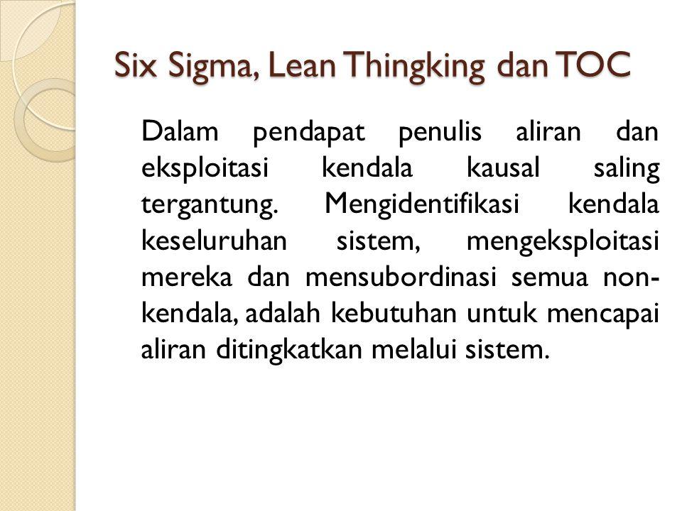 Six Sigma, Lean Thingking dan TOC