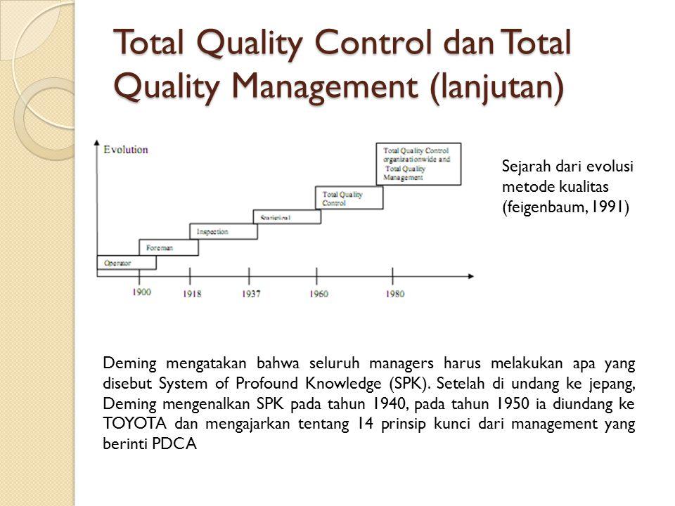 Total Quality Control dan Total Quality Management (lanjutan)