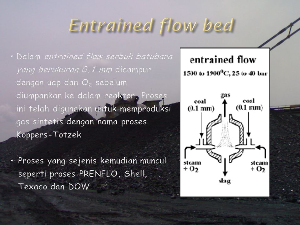 Entrained flow bed