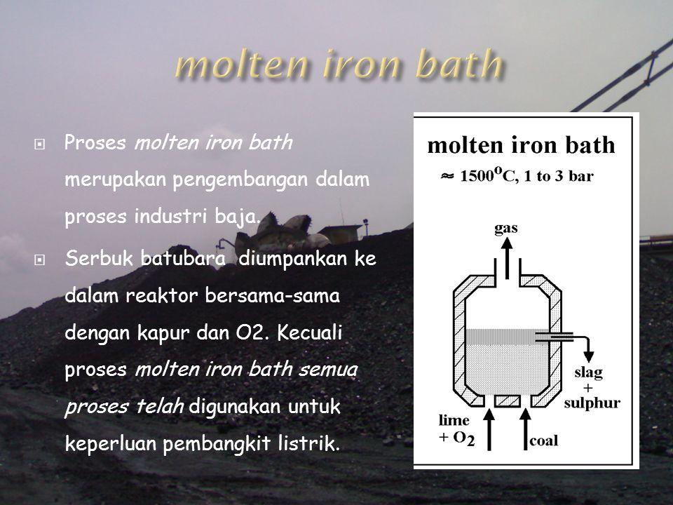 molten iron bath Proses molten iron bath merupakan pengembangan dalam proses industri baja.