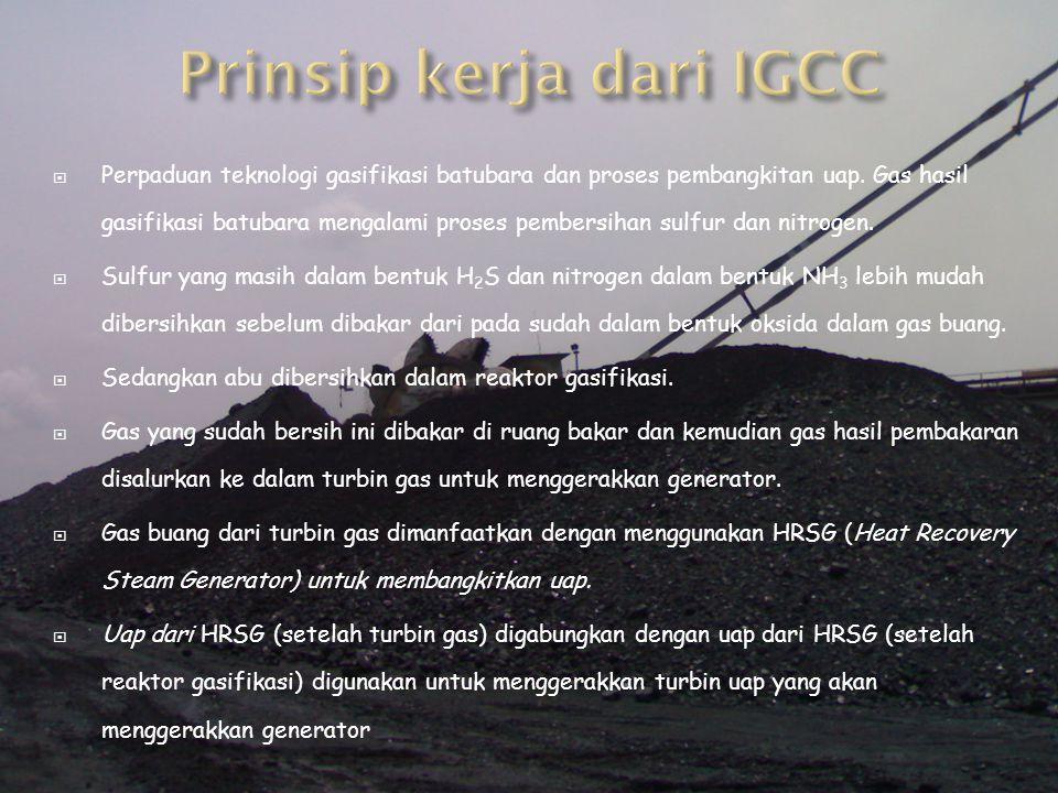 Prinsip kerja dari IGCC
