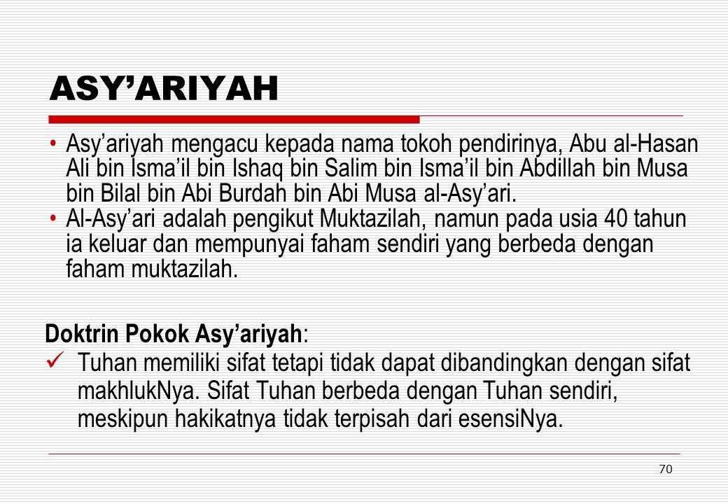 ASY'ARIYAH