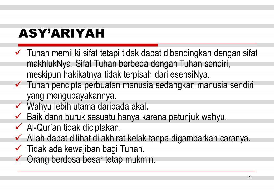 HANDOUT KULIAH TAUHID ASY'ARIYAH.