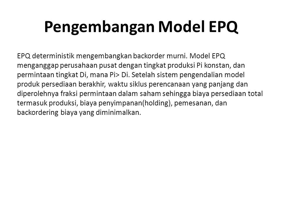 Pengembangan Model EPQ