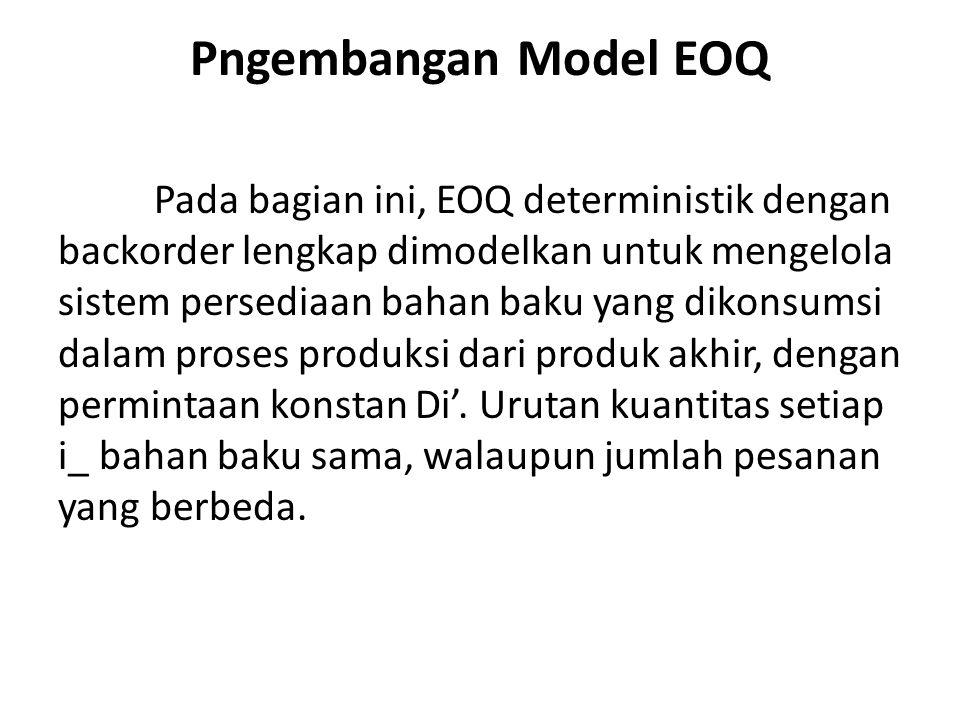 Pngembangan Model EOQ