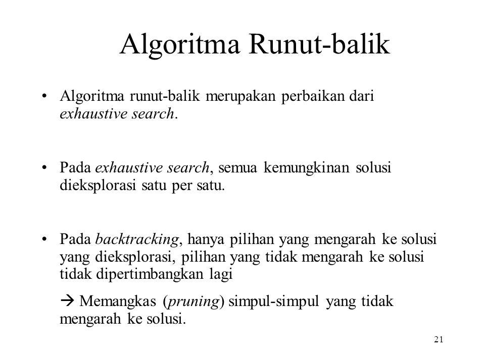 Algoritma Runut-balik