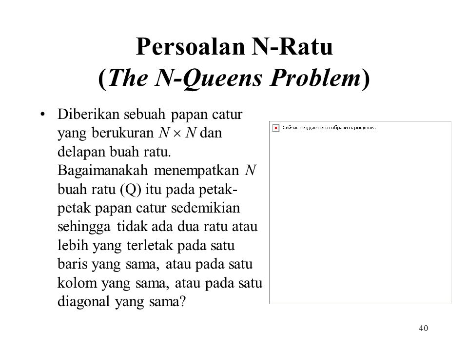 Persoalan N-Ratu (The N-Queens Problem)