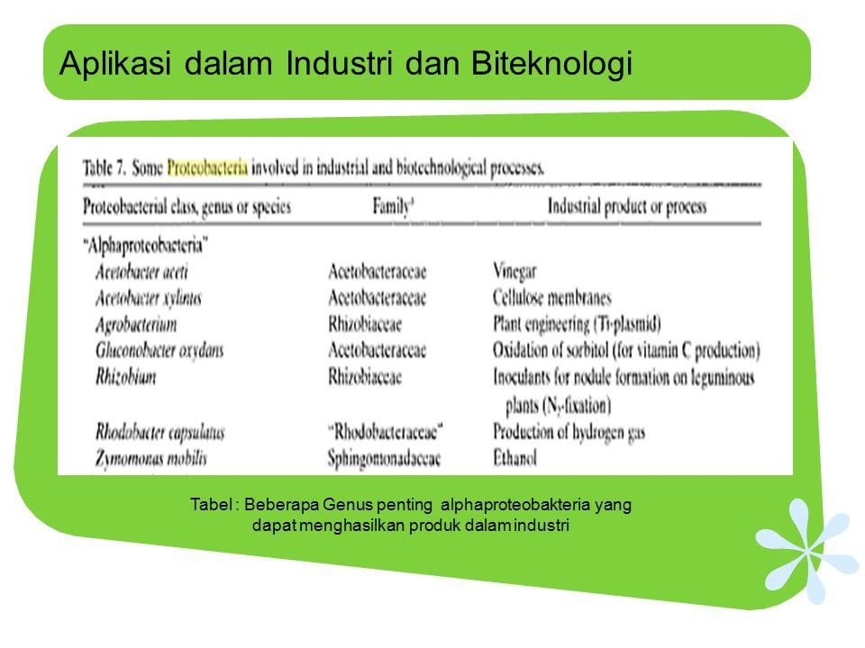 Aplikasi dalam Industri dan Biteknologi