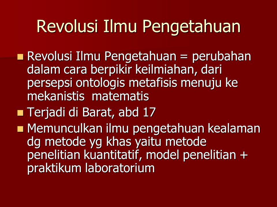 Revolusi Ilmu Pengetahuan