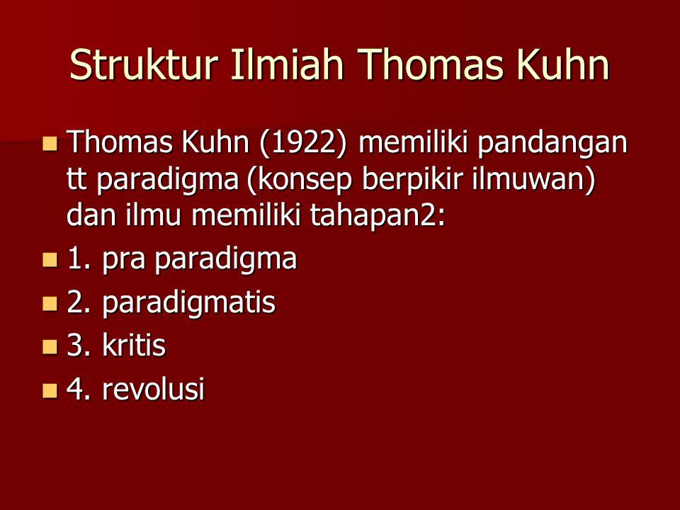 Struktur Ilmiah Thomas Kuhn
