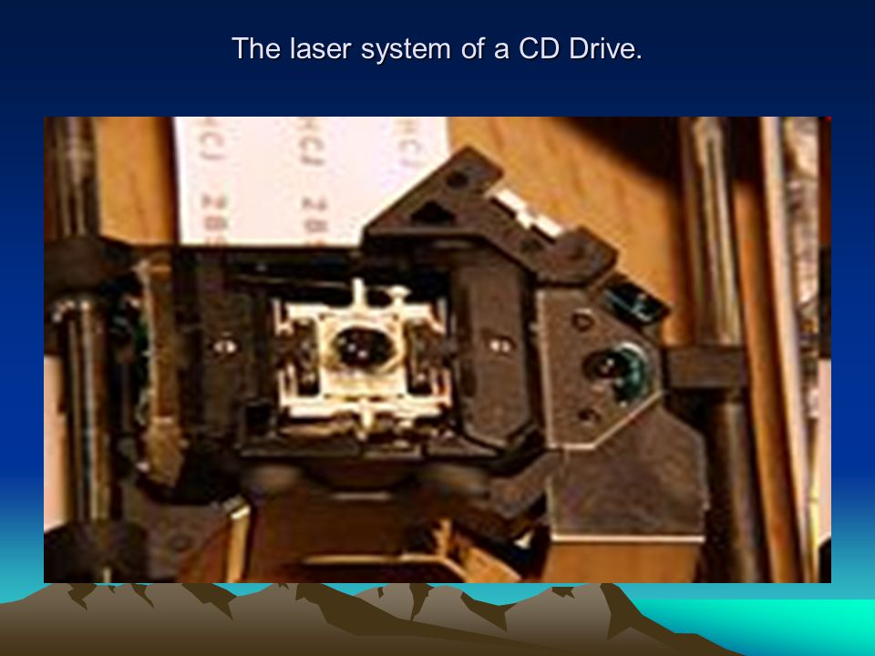 The laser system of a CD Drive.