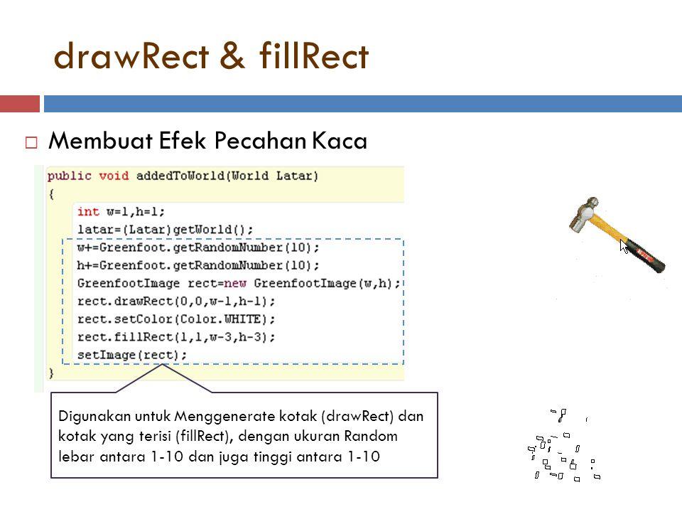 drawRect & fillRect Membuat Efek Pecahan Kaca