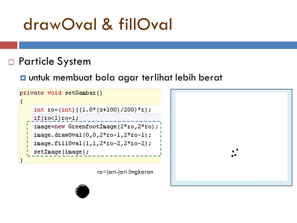 drawOval & fillOval Particle System