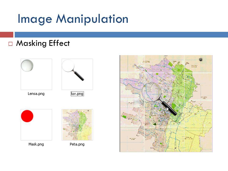 Image Manipulation Masking Effect