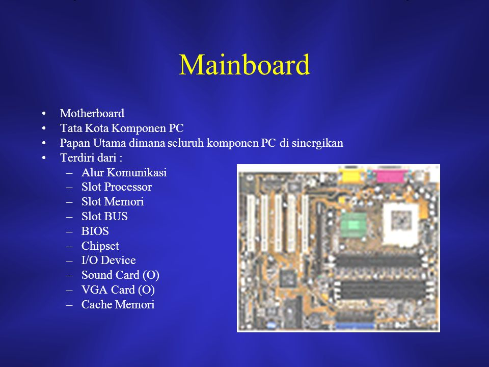 Mainboard Motherboard Tata Kota Komponen PC