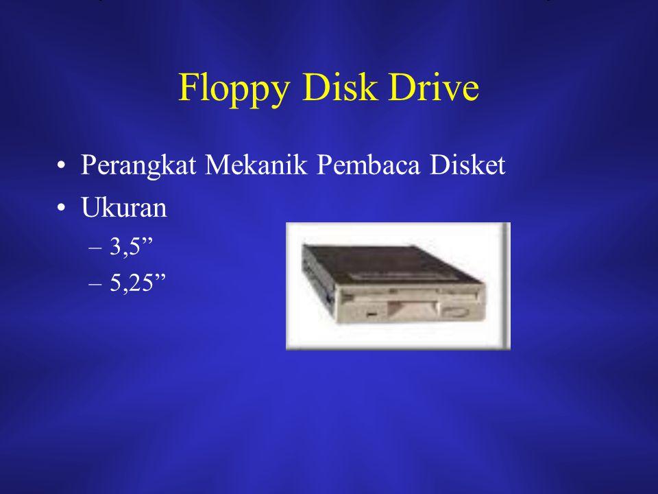 Floppy Disk Drive Perangkat Mekanik Pembaca Disket Ukuran 3,5 5,25