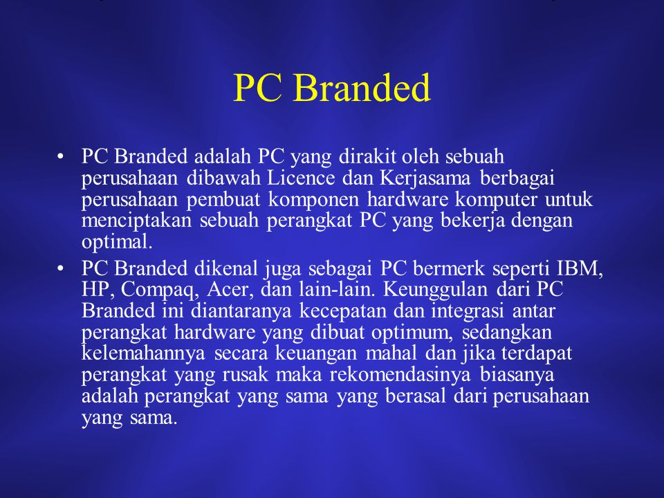 PC Branded