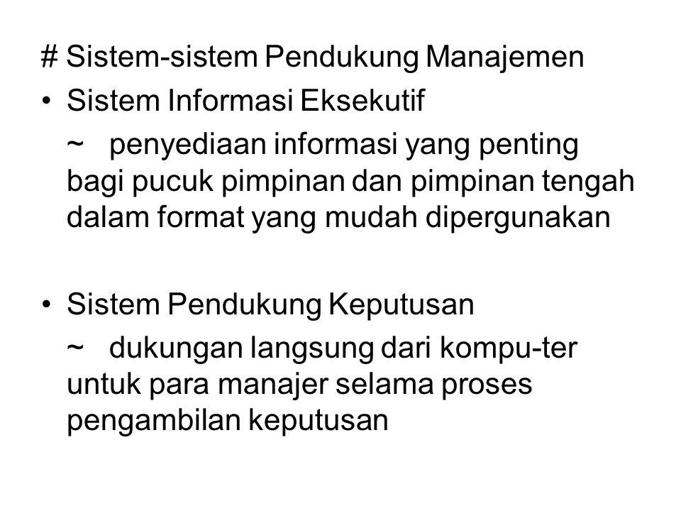 # Sistem-sistem Pendukung Manajemen