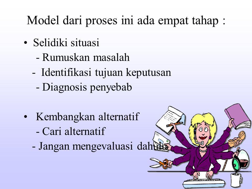Model dari proses ini ada empat tahap :