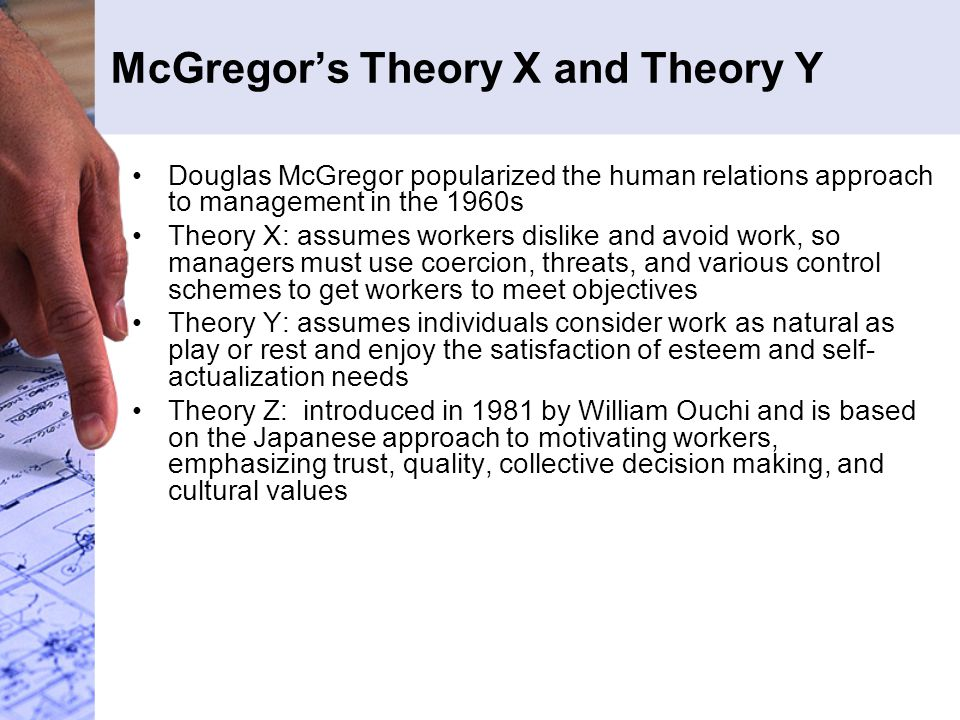 contrast mcgregor s theory x and theory y