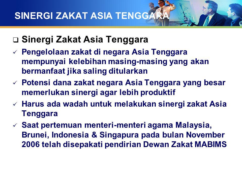 SINERGI ZAKAT ASIA TENGGARA