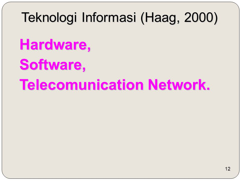 Telecomunication Network.