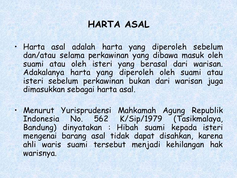 HARTA ASAL