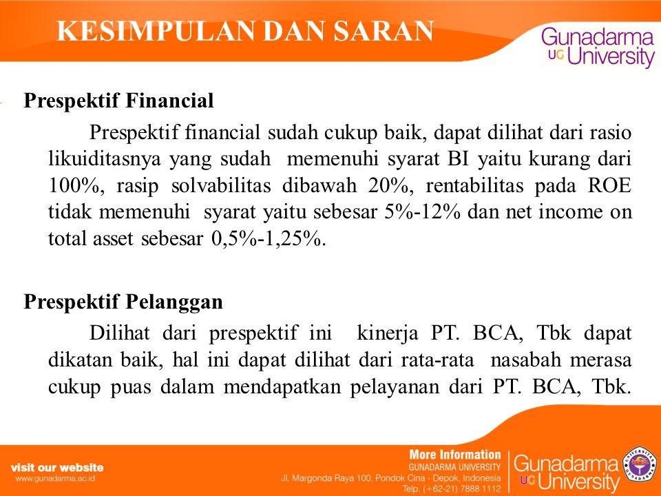 KESIMPULAN DAN SARAN Prespektif Financial