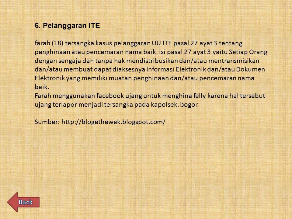 6. Pelanggaran ITE