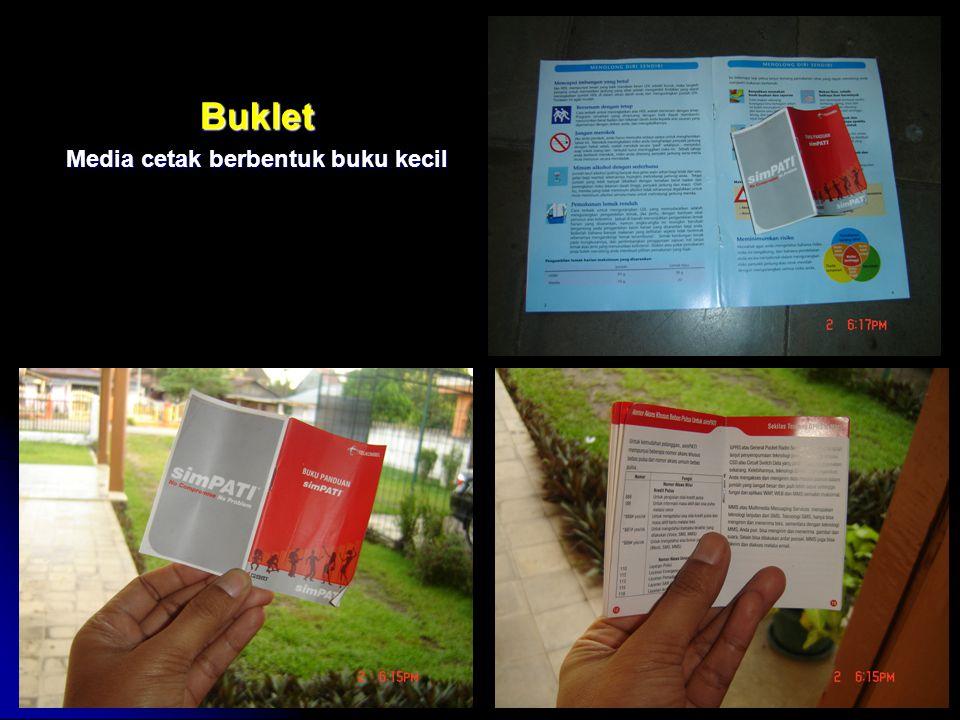 Buklet Media cetak berbentuk buku kecil